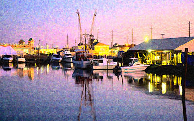 Water Vessels Digital Art - Evening Peace by Betsy Knapp