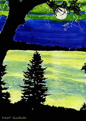 Evening Pine Art Print by Robert Goudreau