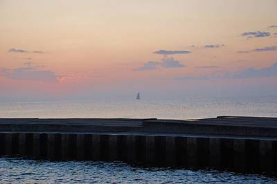Sailboat Photograph - Evening Sail by T Campbell