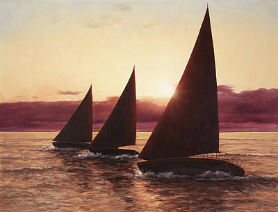 Evening Sails Art Print
