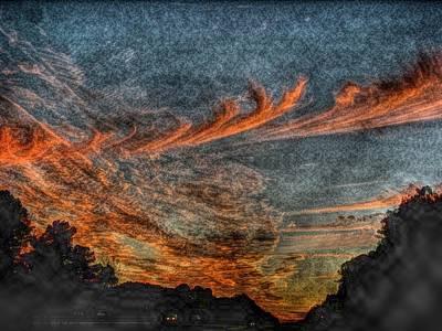 Photograph - Evening Sky by Tom Culver