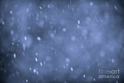 Winter Abstract Photograph - Evening Snow by Elena Elisseeva