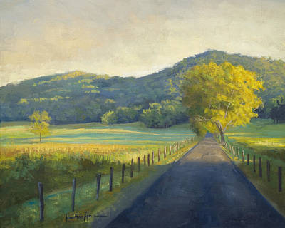 Evening Stroll Art Print by Jonathan Howe
