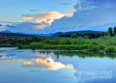 Owens River Photograph - Evening Thunderstorm - Grand Teton National Park by Gary Whitton