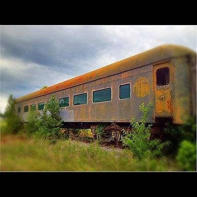 Rust Wall Art - Photograph - Evening #train To Nowhere by Misty D