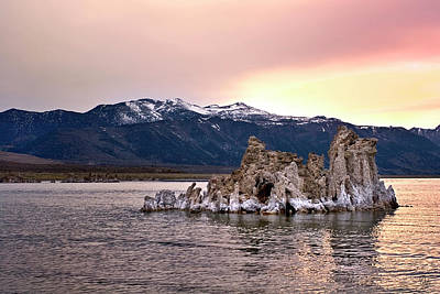 Photograph - Evening Tufa Three by Endre Balogh