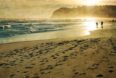 Evening Walk On Beach Photograph By Jill Ferry