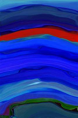 Luminescent Digital Art - Everchanging by Bonnie Bruno