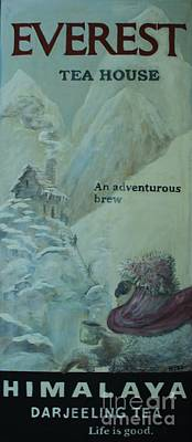 Ice Climbing Painting - Everest Tea House by William Bezik
