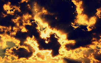 Photograph - Every Cloud Has A Golden Lining by Ramona Johnston