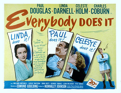 Posth Photograph - Everybody Does It, Linda Darnell, Paul by Everett
