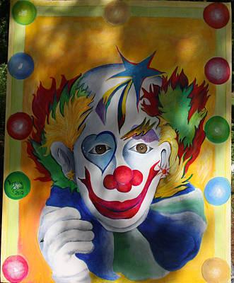 Everybody Loves A Clown Art Print