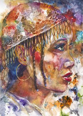 Patricia Mixed Media - Evie by Patricia Allingham Carlson