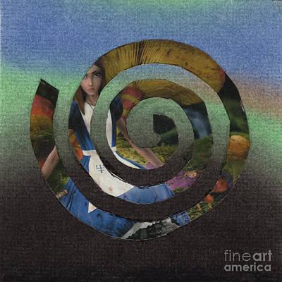 Evil Alice Spiral Art Print