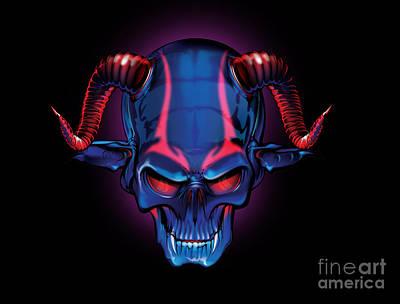 Digital Art - Evil by Brian Gibbs