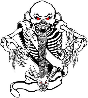 Devon Mixed Media - Evil Mechanical Skelleton by Devon Wilson