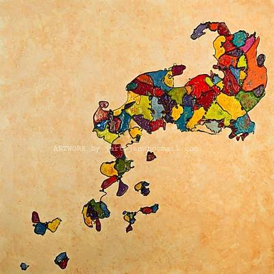 Painting - Evolution V Creationism by Jan Farthing