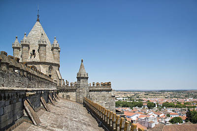Y120831 Photograph - Evora View From Rooftop Of Cathedral Evora, by Stefan Cioata