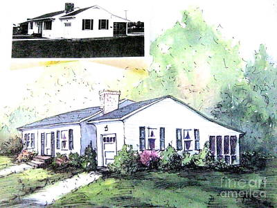 Painting - Example Of House Illustration Versus Painting by Gretchen Allen