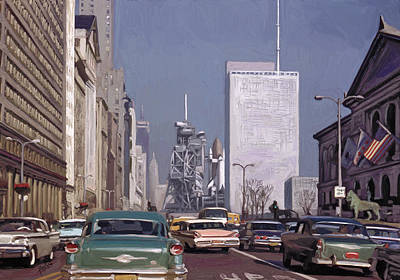 Briex Painting - Exciting Chicago 1962 by Nop Briex
