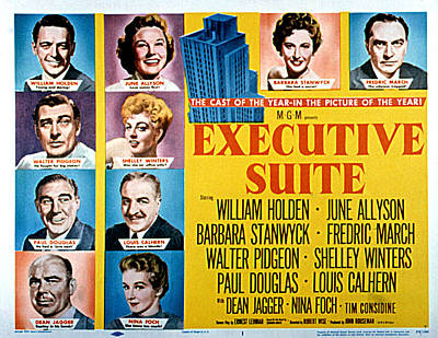Posth Photograph - Executive Suite, William Holden, June by Everett