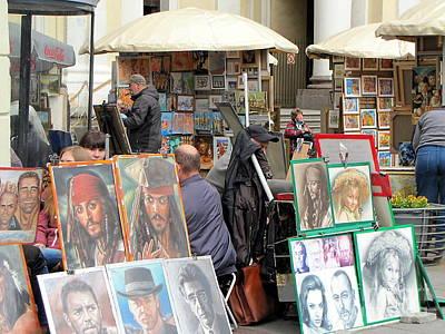 exhibition on the street of Petersburg Art Print by Yury Bashkin