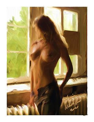 Exibition At The Window Art Print by Alain Helstroffer