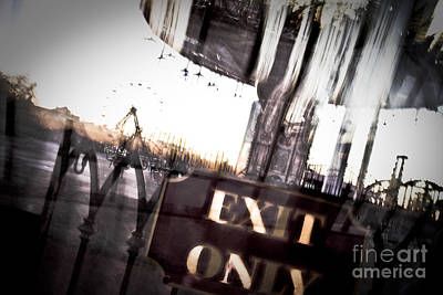 Exit Only Art Print by Pixel Perfect by Michael Moore