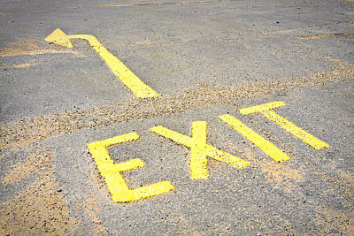 Photograph - Exit Sign by Tom Gowanlock