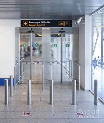 Tallinn Airport Photograph - Exit To A Baggage Claim by Jaak Nilson