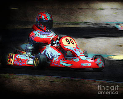 Exit Turn 5 Art Print by Arne Hansen