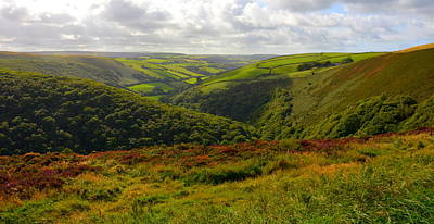 Photograph - Exmoor's Rolling Hills by Carla Parris