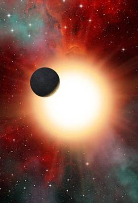 Exoplanet And Parent Star, Artwork Art Print by David Ducros