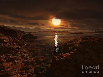 Gliese Digital Art - Exoplanet Gliese 581 D by Ron Miller