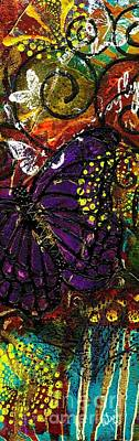 Landmarks Painting Royalty Free Images - Exotic Butterflies II Royalty-Free Image by Angela L Walker