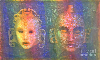 Art Print featuring the painting Exotic Couple by Nareeta Martin