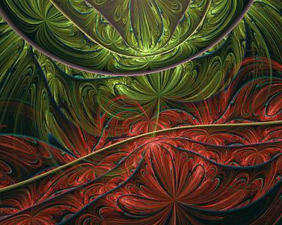 Conceptual Abstraction Digital Art - Exotic Paradise Abstract by Georgiana Romanovna