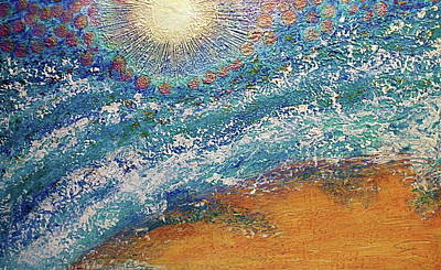 Art Print featuring the painting Expansion  Heaven For Pandemonium Set Painting  by D Renee Wilson