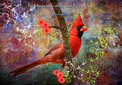 Embellished Photograph - Expectancy And Miracles by Bonnie Barry