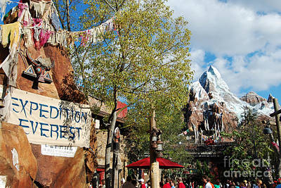 Photograph - Expedition Everest Animal Kingdom Walt Disney World Prints by Shawn O'Brien