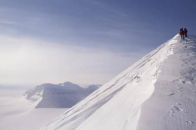Expedition Skiers Climb Nemtinov Peak Art Print by Gordon Wiltsie