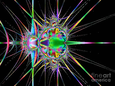 Digital Art - Exploding Star by Tammy Herrin