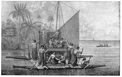 Exploration Of Tonga, 18th Century Art Print