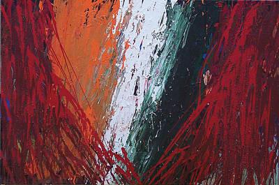 Brian Rock Wall Art - Mixed Media - Explosion 2 by Brian Rock