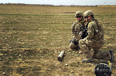 Improvised Explosive Device Photograph - Explosive Ordnance Disposal Technicians by Stocktrek Images