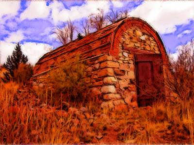 Explosives Shed Art Print by Howard Perry