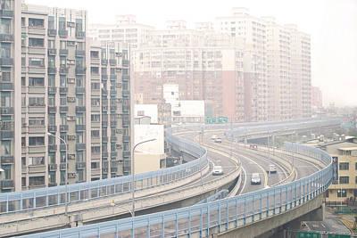Bosphorus Photograph - Expressway Through City by Lawren