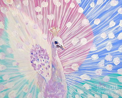 Painting - Exquisit Peacock by Phyllis Kaltenbach