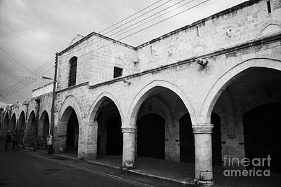 exterior of buyuk han the great inn in nicosia TRNC turkish republic of northern cyprus Art Print by Joe Fox