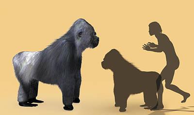 Extinct Giant Gorilla Art Print by Christian Darkin